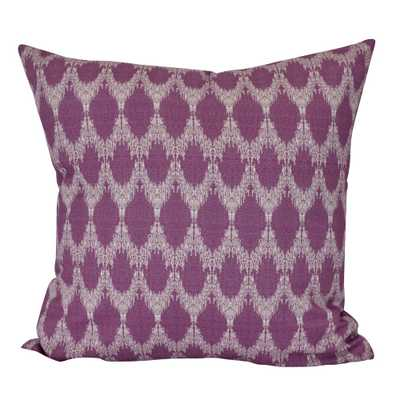 E by Design 18 in. Peace 2 Geometric Print Decorative Pillow, Purple - Home Depot