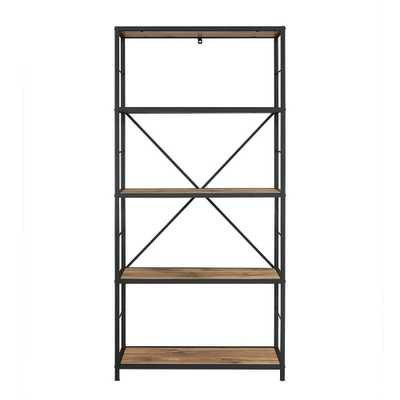 Barnwood Open Bookcase - Home Depot