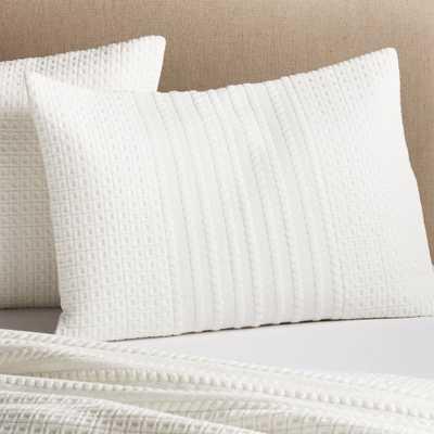 Doret White Standard Pillow Sham - Crate and Barrel