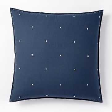 Washed Cotton Euro Sham, Shadow Blue - West Elm