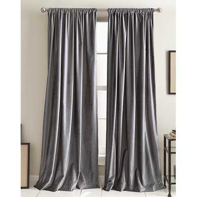 Modern Knotted Cotton Blend Solid Room Darkening Rod Pocket Curtains - AllModern