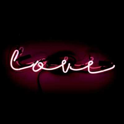 Oliver Gal 'Love' Plug-in Neon Lighted Sign, Red - Home Depot