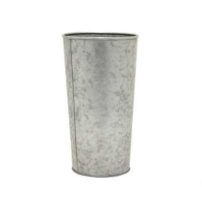 Galvanized Bucket, Gray - Home Depot