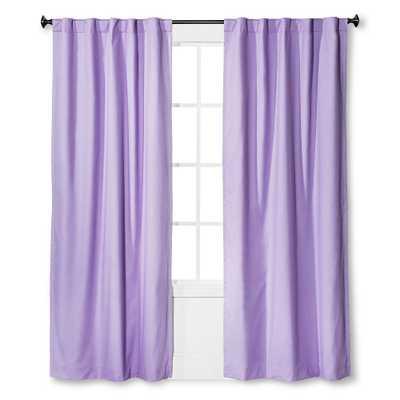 "Twill Blackout Curtain Panel Lavender (Purple) (42""x63"") - Pillowfort - Target"
