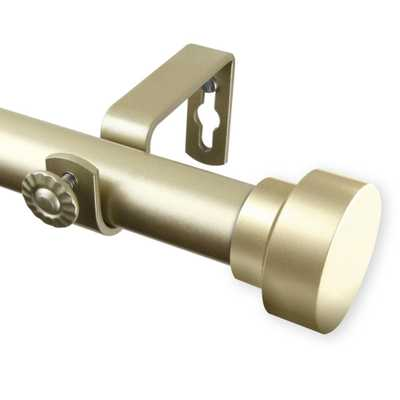 Rod Desyne Bonnet 120 in. - 170 in. Curtain Rod in Light Gold - Home Depot