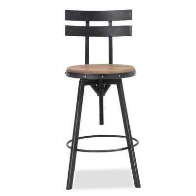 Sylvania Adjustable Height Swivel Bar Stool - Wayfair