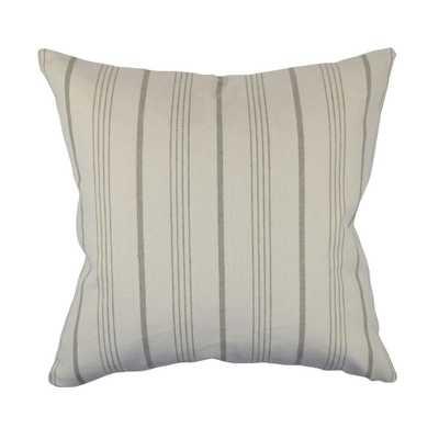 Light Cream Striped Jacquard Throw Pillow, White - Home Depot