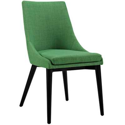 Viscount Kelly Green Fabric Dining Chair - Home Depot