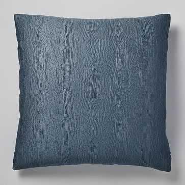 TENCEL Cotton Matelasse Euro Sham, Stormy Blue - West Elm