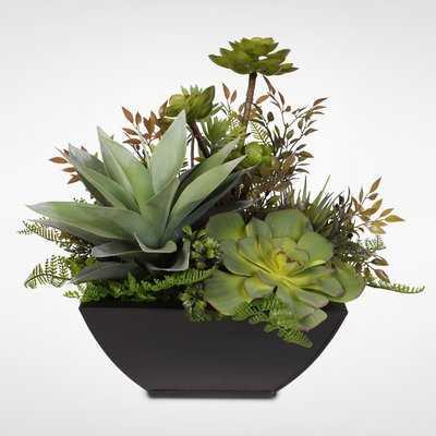 Artificial Desktop Succulent Arrangement Plant in Planter - Wayfair
