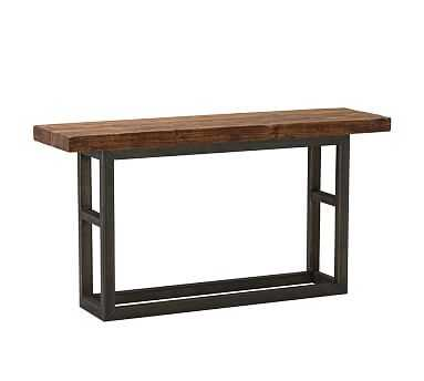 Griffin Wrought Iron & Reclaimed Wood Console Table - Pottery Barn