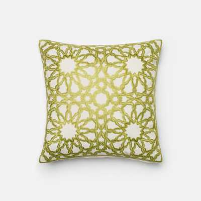 """PILLOWS - GREEN / BEIGE - 18"""" X 18"""" Cover Only - Loma Threads"""