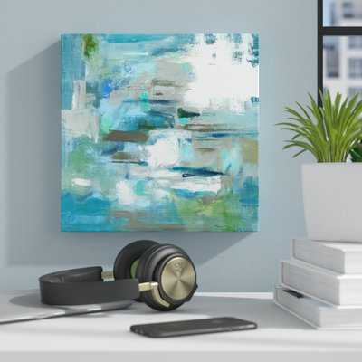 "'Tranquil Colors' Framed Print on Canvas in Blue/Green, 20"" - AllModern"