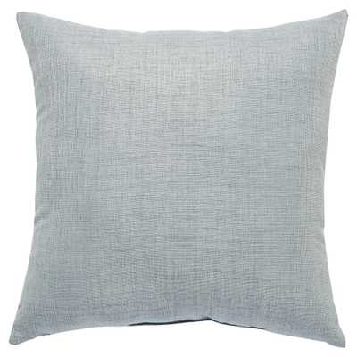 Coastal Modern Stone Grey Outdoor Pillow - 18x18 - Kathy Kuo Home