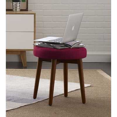 Penelope Round Tufted Accent Stool - AllModern