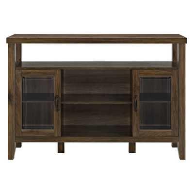 52 Wood Console High Boy Buffet Dark Walnut - Saracina Home - Target