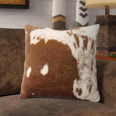 Bonneval Faux Cowhide Throw Pillow - Wayfair