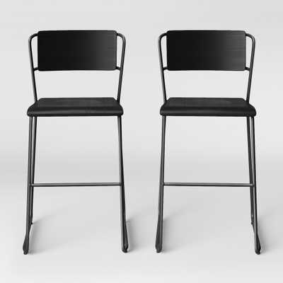 Set of 2 Killiam Mixed Material Sled Counter Stool Black - Project 62 - Target