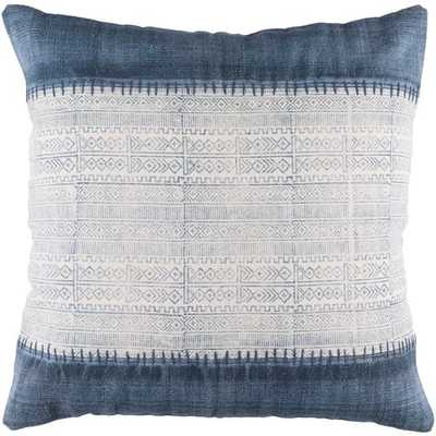 "Sariah Pillow Cover, 20""x 20"", Navy - Cove Goods"