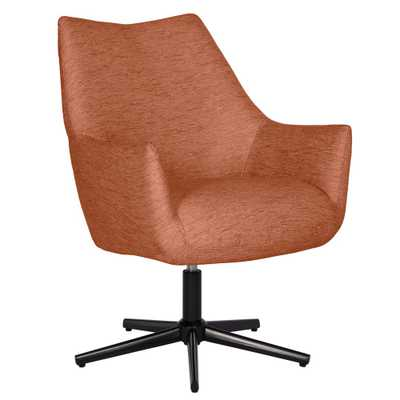 Gunnison Swivel Arm Chair in Red Textured Strie, Red Strie - Home Depot