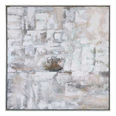 """Luxe Abstract Framed Painting Print / 41""""W x 41""""H - Wayfair"""