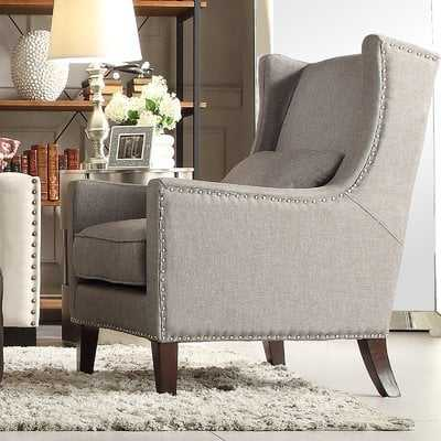 Andover Mills Oneill Wingback Chair in Gray - Wayfair