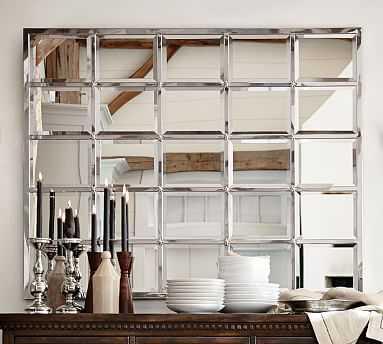 "Eagan Multipanel Large Mirror, 44 x 55"", Silver Finish - Pottery Barn"