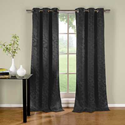 Duck River Zayden 96 in. L x 38 in. W Polyester Blackout Curtain Panel in Black (2-Pack) - Home Depot