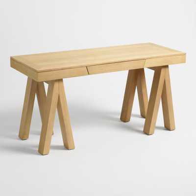 Bleached Oak and Poplar Gemma Sawhorse Desk by World Market - World Market/Cost Plus