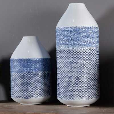 Barahona Metal 2 Piece Vase Set - Wayfair