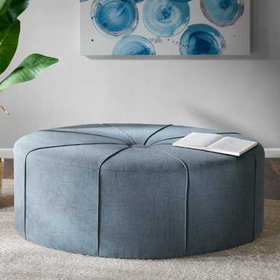 Telly Oval Tufted Cocktail Ottoman, Blue- Back in Stock Jun 4, 2021. - Wayfair