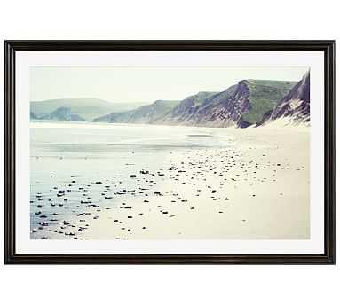 "Pebbly Beach Framed Print by Lupen Grainne, 28x42"", Ridged Distressed Frame, Black, Mat - Pottery Barn"