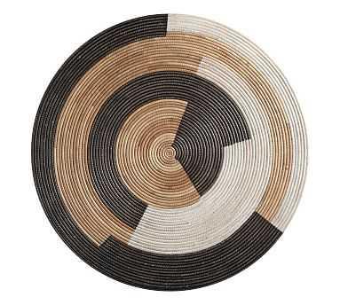 Sierra Woven Disc Wall Art, Black/White/Natural - Pottery Barn