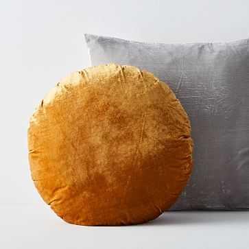 Lush Velvet Pillow Set, Platinum + Golden Oak - West Elm