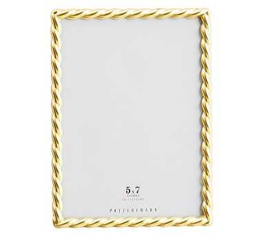 """Rope Plated Frame, Gold - 5 x 7"""" - Pottery Barn"""