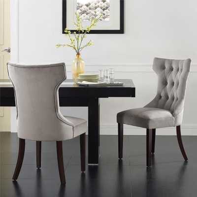 Clairborne Taupe (Brown) Microfiber Tufted Dining Chairs (Set of 2) - Home Depot