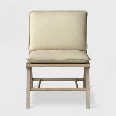 Lincoln Cane Chair with Upholstered Seat Natural - Ships Flat - Threshold - Target