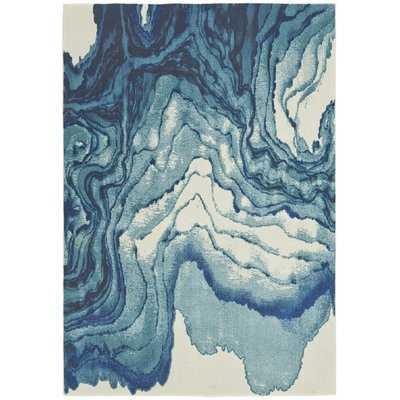 PeoPles Blue Area Rug - Wayfair