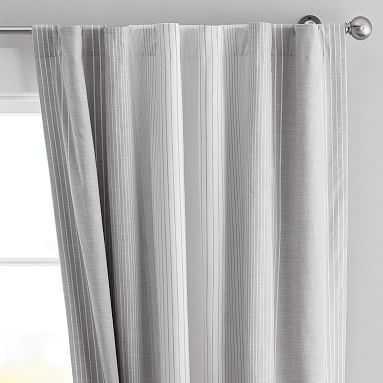 "Ombre Stripe Blackout Curtain, 96"", Gray - Pottery Barn Teen"