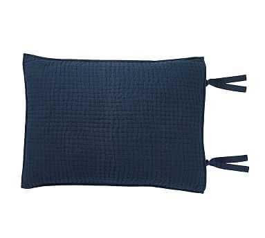 Pick-Stitch Handcrafted Sham, Standard, Midnight Blue - Pottery Barn
