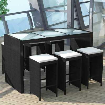 Rothsay Garden 7 Piece Bar Height Dining Set with Cushions - Wayfair