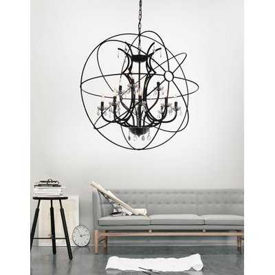 Margo 12-Light Globe Chandelier - Wayfair