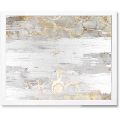 'Elegance Abstract Art' Wrapped Canvas Print - AllModern