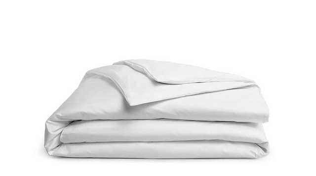 Brooklinen Percale Duvet Cover - Full/Queen - Solid White - Brooklinen