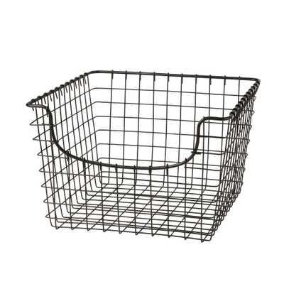 Spectrum Scoop 12.125 in. W x 13 in. D x 8 in. H Medium Basket in Cool Gray, Industrial Gray - Home Depot