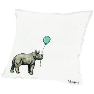 Martha Nursery Rhino Throw Pillow - Wayfair