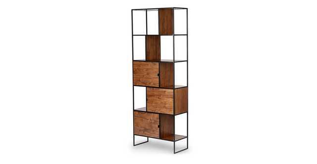 """Rictu Walnut 75"""" Bookcase - Article"""