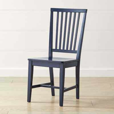 Village Indigo Wood Dining Chair - Crate and Barrel