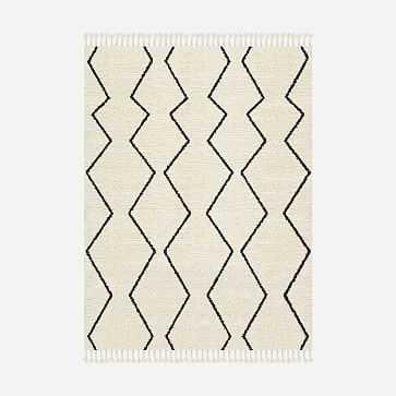 Souk Wool Rug, 9'x12', Graphite - West Elm