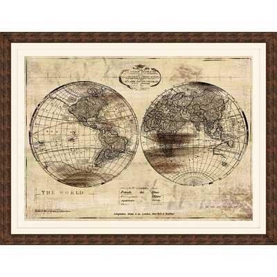 World Map Giclée Framed Graphic Art - Birch Lane